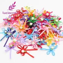 Lucia crafts приблизительно 40-60 мм случайные разные яркие цвета девушки бутик мини лук головные уборы одежда аксессуары 12 шт./лот B0917