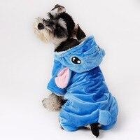 Hond Puppy Kleding Schattige Stitch Hond Kleding Kostuums Zachte jas Hoodie 5 Maten Pet Apparel Hond Zwemvest Kleren hond