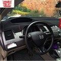 Dashmats инструмент автомобилей - стайлинг приборная панель футляр чехол для honda civic si тип r 2006 2011 2008 2012 2015 8-го 9-поколение