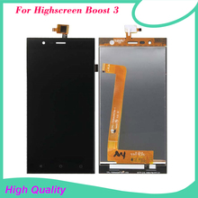 For Highscreen Boost 3 LCD Touch Screen Digitizer Assembly Original Quality Black for Highscreen lcd Free Shipping+Tools