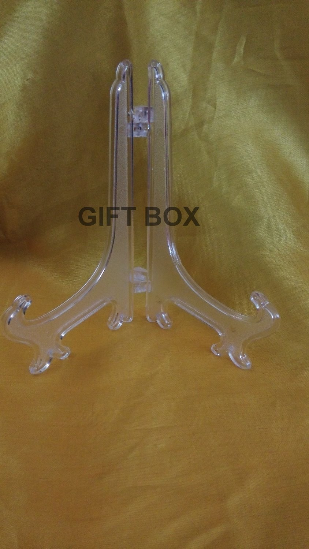 10 X 명확한 서리로 덥은 플라스틱 격판 덮개 홀더 전시 접시 선반 6 인치