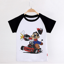 Children Clothing 2019 New Boy Raglan Sleeve T shirt Mario Funny T-shirt Cotton Girls Top Kids Cothes Baby Tee Shirts Unisex raglan sleeve botanical peplum top