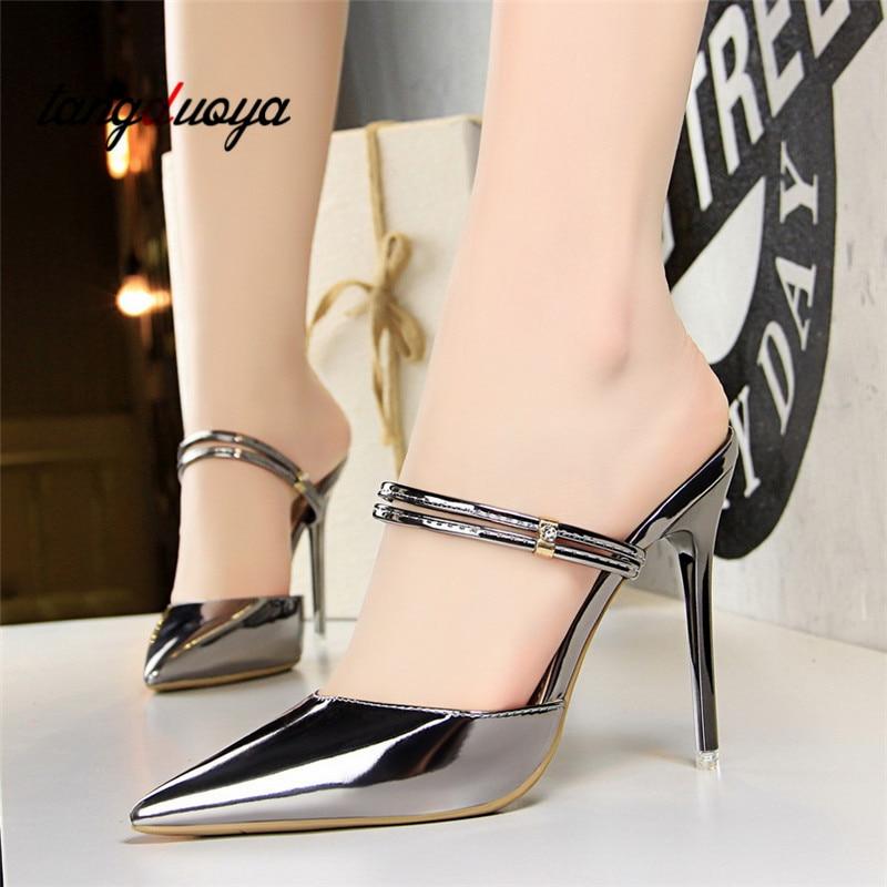 2018 Zapatos de Tacón Sandalias de Las Mujeres Zapatos de Verano - Zapatos de mujer - foto 1