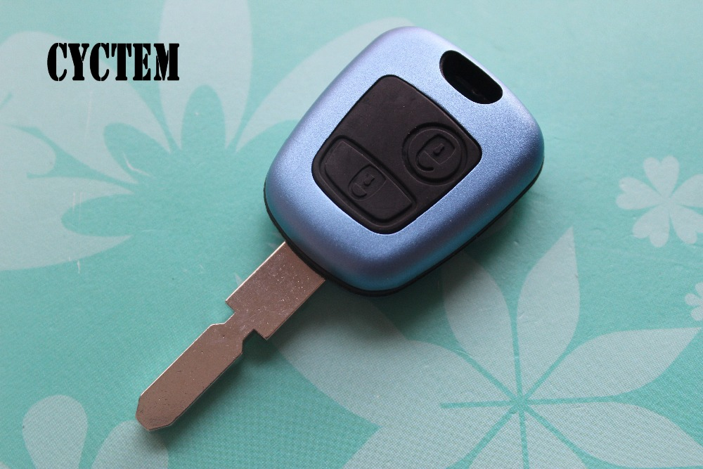 CYCTEM 2 Buttons Flip Key Shell Car Remote Key Cover Blank Case Replacement For Peugeot 406 + Free Shipping