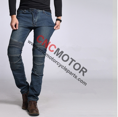 ФОТО Motorcycle Enduro Riding Trousers Sports Knee Protective Sports Jeans Pants Black&Blue