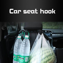 цены Car Back Seat Headrest Holder Auto Hanger Hooks Clip for Purse Bag Cloth Tricolor Options