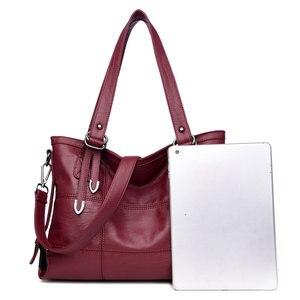 Image 4 - Women PU Leather Handbags Designer Soft Shoulder Bags For Women Messenger Bags Crossbody BagsTop Handle Bags Bolsa 3098