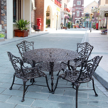 5-piece Best-selling cast aluminum table and chair Outdoor furniture transport by sea selling the sea