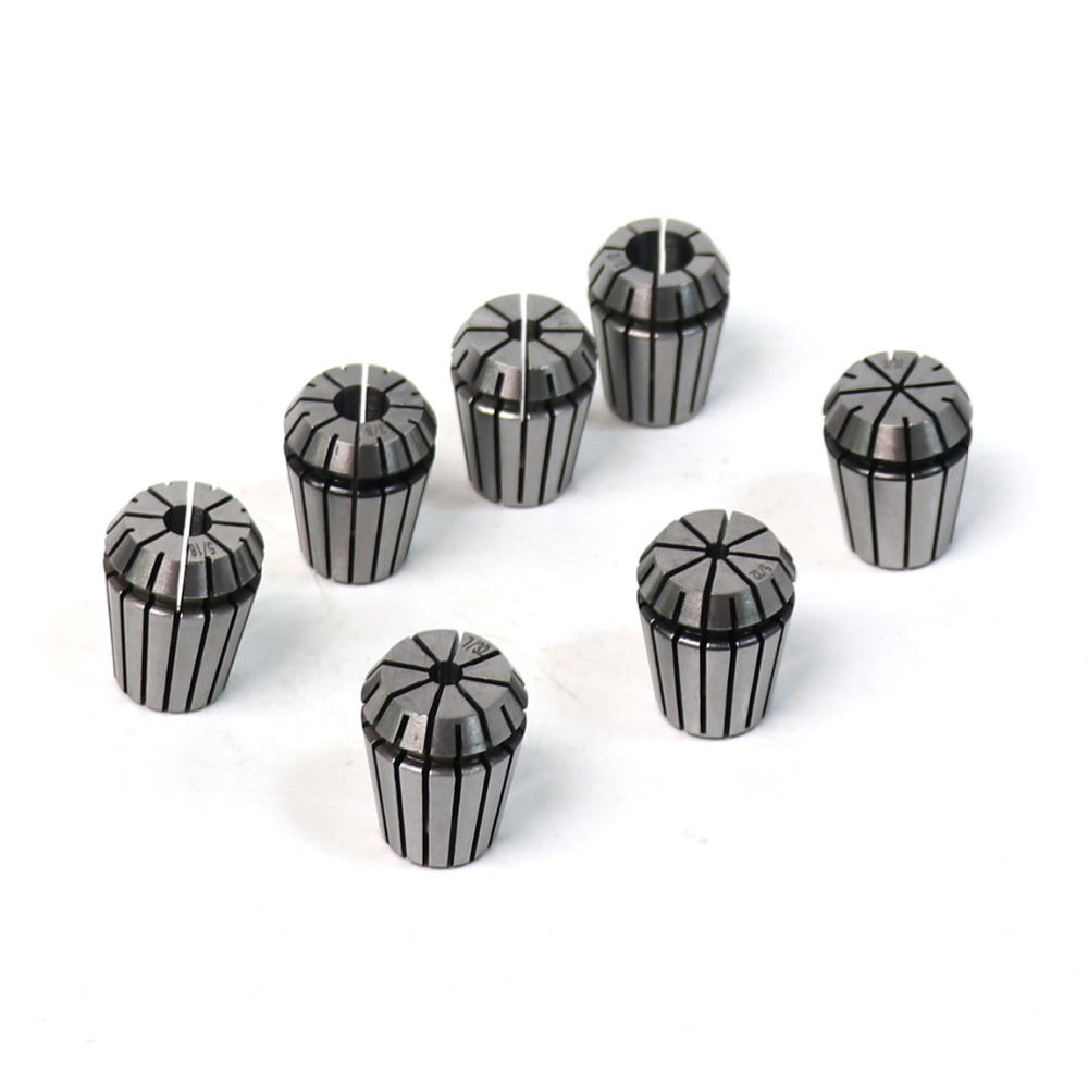 Hot 7PCS/Lot 65Mn ER25 Spring Collet High Precision Height 34mm Collet Chuck Set for Milling Lathe Tool & CNC Engraving Machine  9pcs lot er32 spring collet set for cnc engraving machine and milling lathe tool 2 20mm
