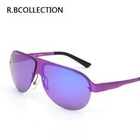 R.BCOLLECTION New Metal Large Frame Bright Men 's Polarized Sunglasses Glasses Fashion Retro Anti-Ultraviolet Sunglasses J8600