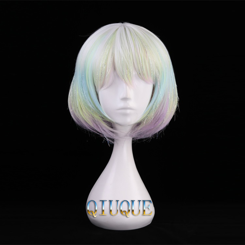 High Quality Anime Land Of The Lustrous Houseki no Kuni Diamond Cosplay Wig Heat Resistant Synthetic Hair Wigs + Wig Cap-in Anime Costumes from Novelty & Special Use