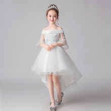 Girl dresses tulle sequins Beaded embroidery girls formal full dress Kids prom for baby evening gown