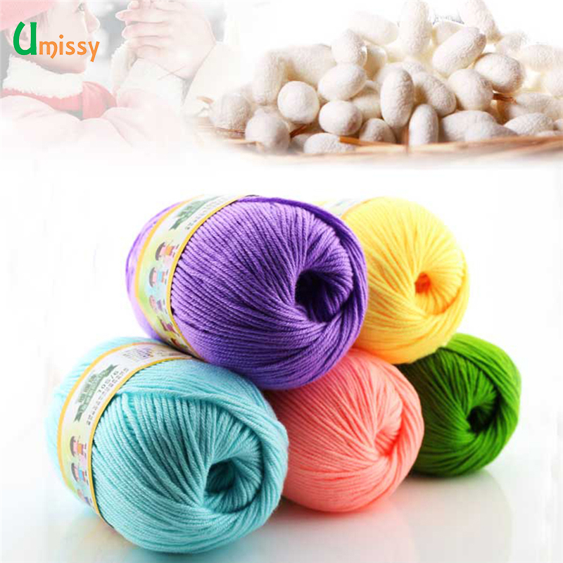 10pcs hot sale multi color cotton silk knitting yarn soft. Black Bedroom Furniture Sets. Home Design Ideas