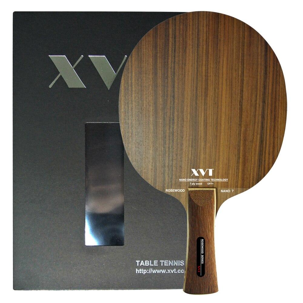 XVT Professional Rosewood Nano 7 Table Tennis Blade/ Ping Pong Blade/ Table Tennis Bat
