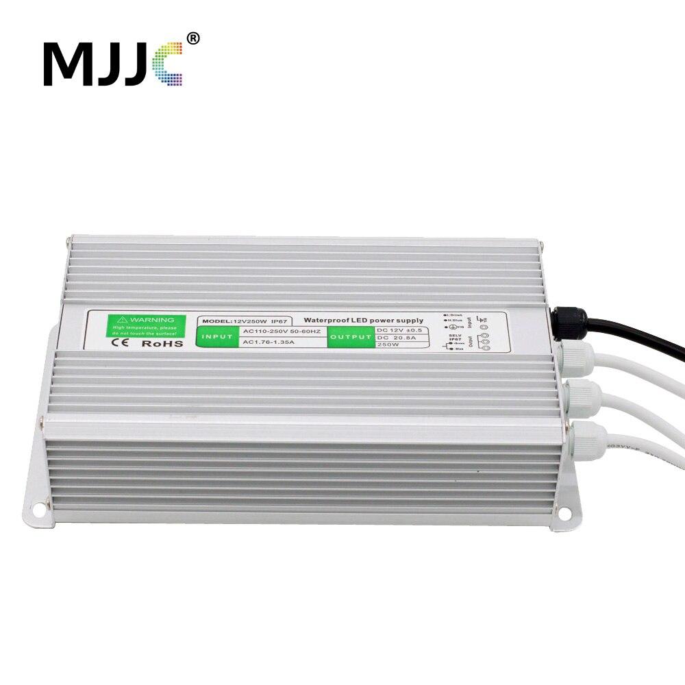 12 V 24 V alimentation LED unité d'alimentation pilote transformateur électronique AC 110 V 220 V à 12 24 volts 200 W 250 W 300 W 360 W étanche IP67