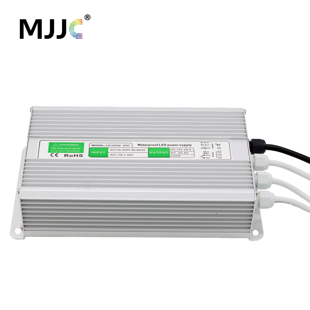 12V 24V LED Power Supply Unit Driver Electronic Transformer AC 110V 220V to 12 24 Volt 200W 250W 300W 360W Waterproof IP67 ac 85v 265v to 20 38v 600ma power supply driver adapter for led light lamp