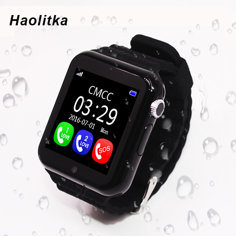 GPS Smart Watch Kid Watch V7k with Camera Facebook SOS Call Location Tracker Monitor Device for Child Safe Anti-Lost pk Q90 smartch gps smart watch v7k kid waterproof smart baby watch with camera sos call location device tracker anti lost monitor