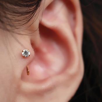 Single Earring Unique New Silver Filled Alloy Branch Tragus Piercing Earring For Women Non Piercing Clip Earring 2019 5