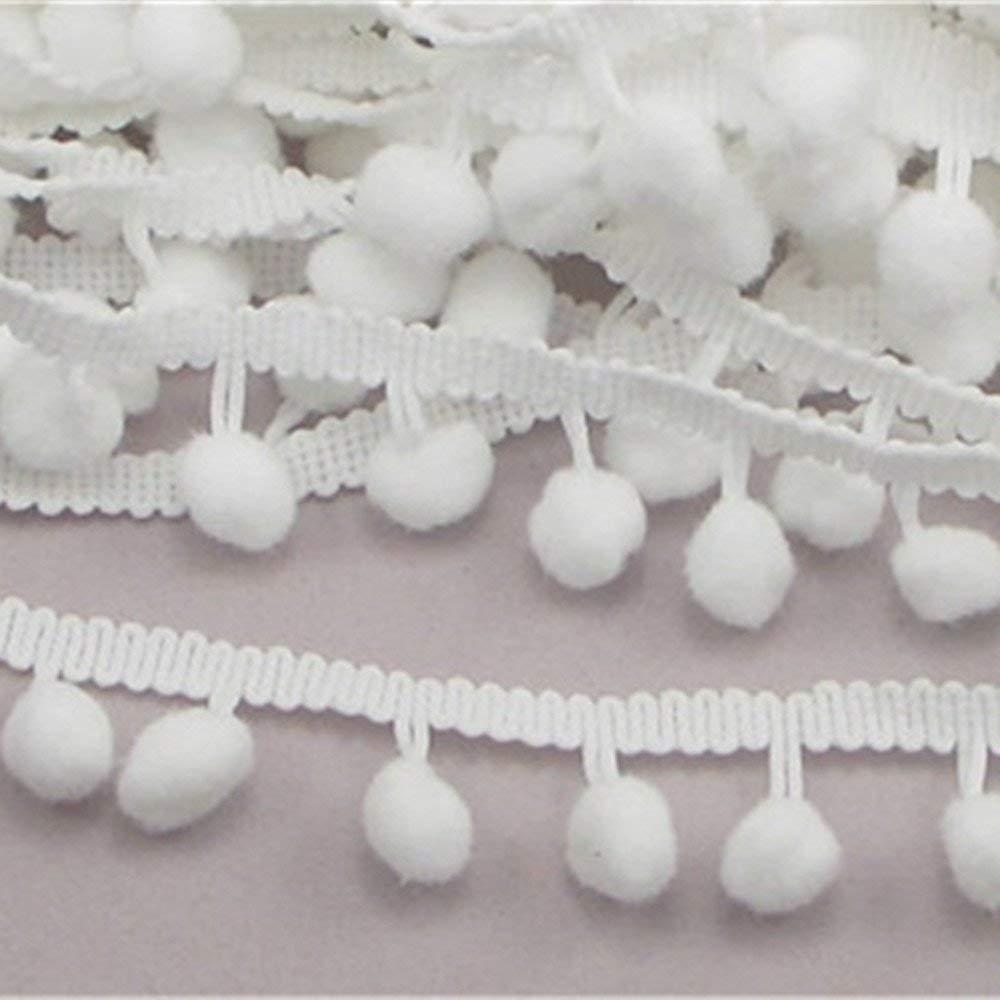 5 ярдов Лидер продаж 10 мм помпонами мяч бахромой ленты поделки шитье аксессуары кружева для дома вечерние украшения 5BB5483