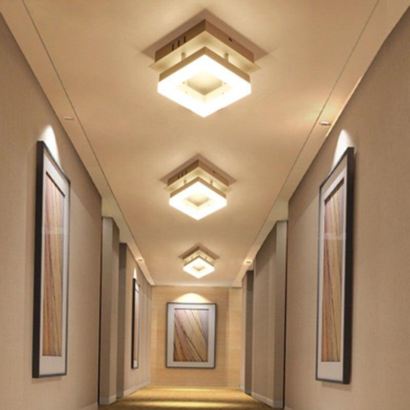 Plafond moderne à LEDs lumières plafonnier encastré acrylique plafonnier Surface montée couloir chambre lumière