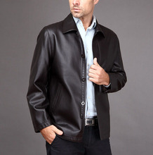 Free delivery ! Men's vogue slim leather-based coat  plus velvet leather-based jacket outerwear males coats and jackets / M-3XL