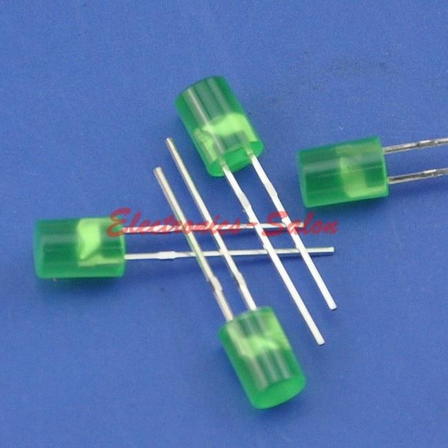 ( 50 pcs/lot ) 5mm Green Normal Brightness Cylindrical LED.