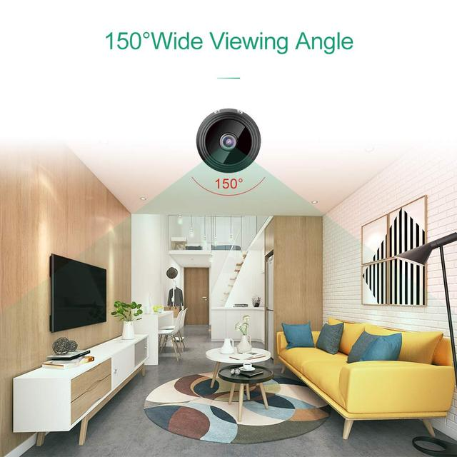 Mini Camera, Home Security Camera WiFi, Night Vision 1080P Wireless Surveillance Camera, Remote Monitor Phone App 2