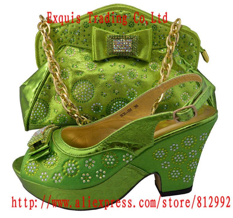 ФОТО Free Shipping!!!!New arrival fashion nice matching shoe and bag set BCH-04 38-42