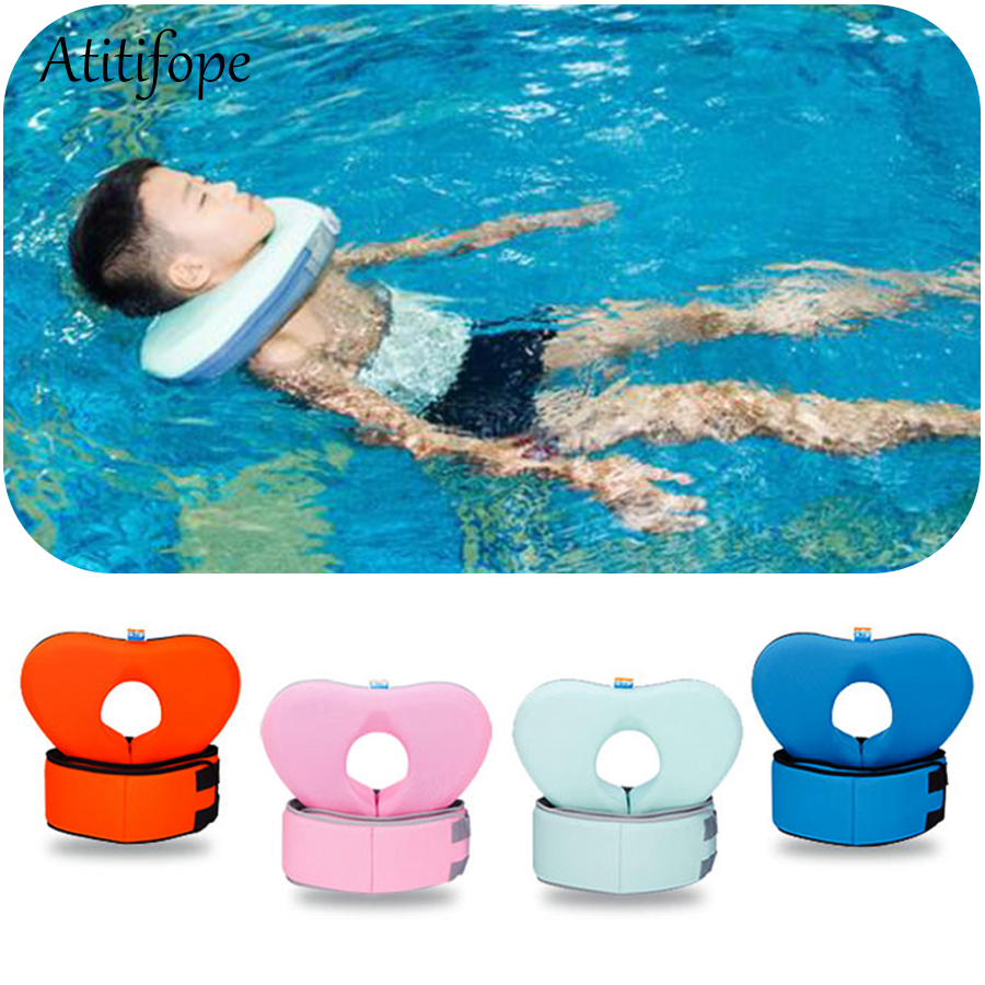 Haute qualité sans gonflage flotteur de bain Double protection sécurité enfants Ruff cou de bain anneau flottant bébé piscine accessoires