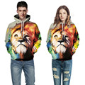 Plus size S-5XL print 3D Galaxy digital colorful animal Wild lions tiger leopard cat mens funny Hoodies Sweatshirt Men/Women