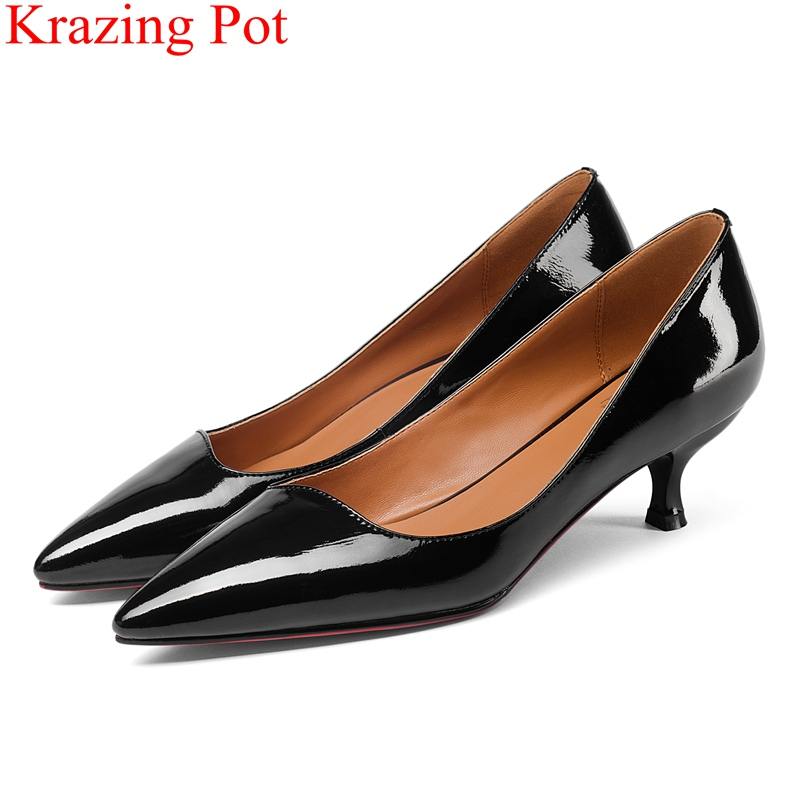 2018 fashion pointed toe shallow cow leather high heels women pumps office lady elegant sweet runway handmade big size shoes L21 morazora pointed toe elegant party shoes shallow women pumps office lady big size 32 43 thin high heels shoes 9cm solid