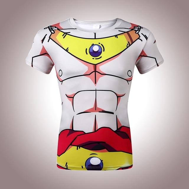 New 2017 men, animation Vegeta 3D tight short sleeve T-shirt Classic Anime Dragon Ball Z Super Saiyan 3d t shirt  tees tops
