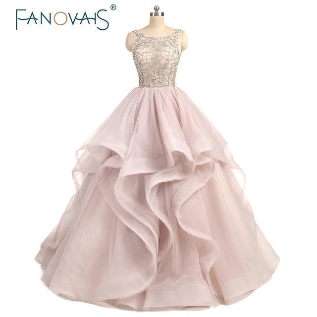 Real Photo Tulle Beading Wedding Dress Ruffles Sexy Beaded Cheap Prices Floor Length abito da sposa rosa 2019 robe de maree