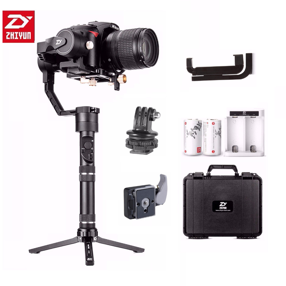 Zhiyun Crane Plus 3-Axis Handheld Gimbal Stabilizer for Sony Canon Nikon Panasonic all DSLR Cameras Support 2.5KG POV Mode zhiyun crane plus 3 axis handheld gimbal stabilizer for sony canon nikon panasonic dslr camera pov 2 5kg payload object tracking