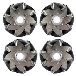 152mm(6 Inch) Stainless Steel Mecanum Wheel 4Pieces (150kg Payload)14156152mm(6 Inch) Stainless Steel Mecanum Wheel 4Pieces (150kg Payload)14156