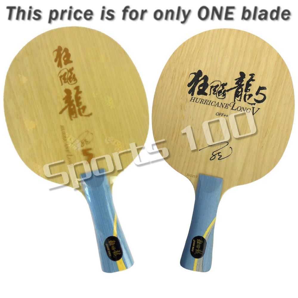 DHS Hurricane Long V 5 Wooden with 2 Arylate-Carbon Table Tennis PingPong Blade The new listing Favourite