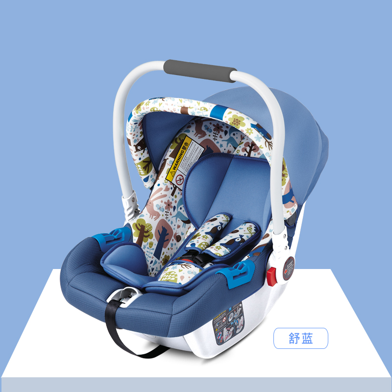 Baby basket child safety seat car newborn sleeping basket baby portable car cradle baby cradle portable car safety basket multi function coax sleeping basket with mosquito net discharge cart
