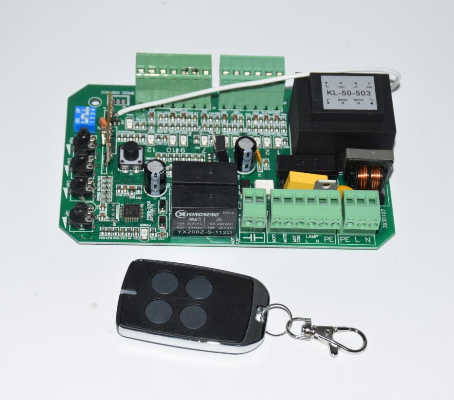 AC110v 220V 1 Keyfob Circuit Board Control Card Mother Board For Sliding Gate Opener Motor(PY600ac SL600 SL1500 PY800 Model)