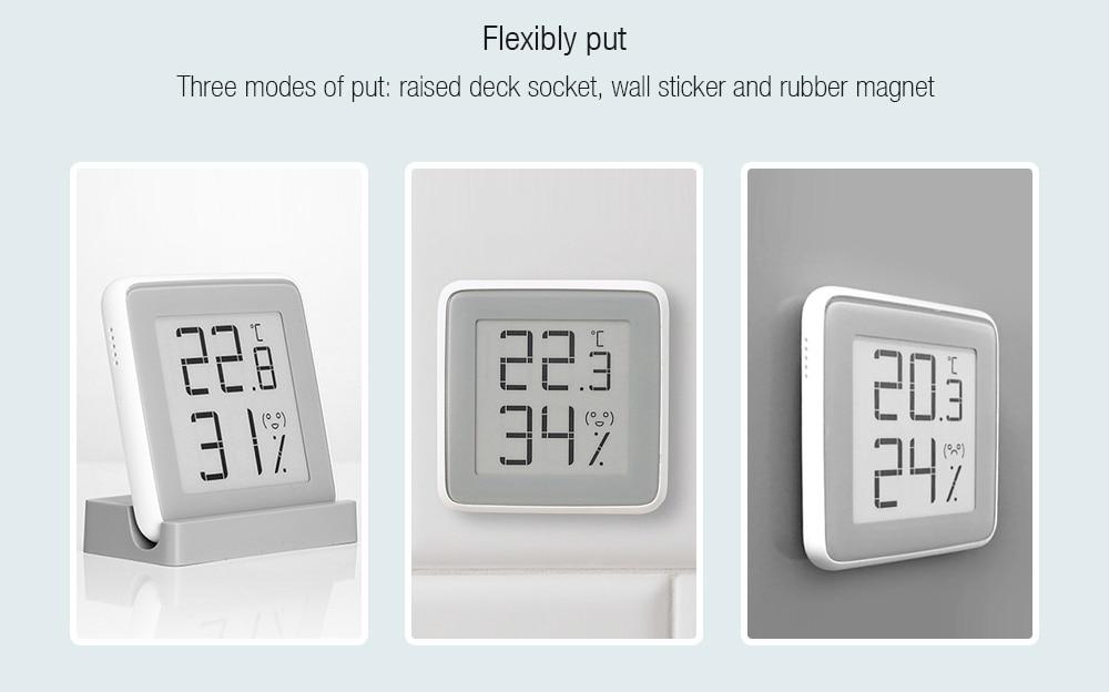 Xiaomi MiaoMiaoCe E-Link INK Screen Display Digital Moisture Meter High-Precision Thermometer Temperature Humidity Sensor H10 (13)