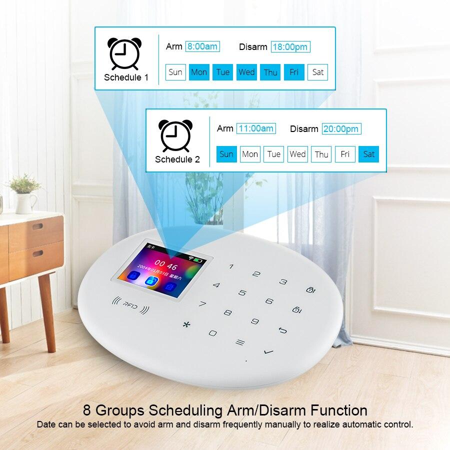 KERUI WIFI GSM système d'alarme de sécurité à domicile avec 2.4 pouces TFT écran tactile APP contrôle RFID carte sans fil intelligent maison alarme antivol - 6