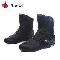 ARCX Men S Motorcycle Boots Genuine Cow Leather Waterproof Street Moto Racing Boots Motorcross Boots Motorbike