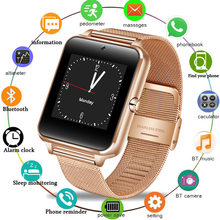 HOT Smart Watch GT08 Plus Metal Strap Bluetooth Wrist Smartwatch Support Sim TF Card Android&IOS Watch Multi-languages PK S8 Z60(China)