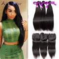 Peruvian Straight Hair With Closure Alimoda Peruvian Virgin Hair With Closure  Cheap Straight Human Hair 3 Bundles With Closure