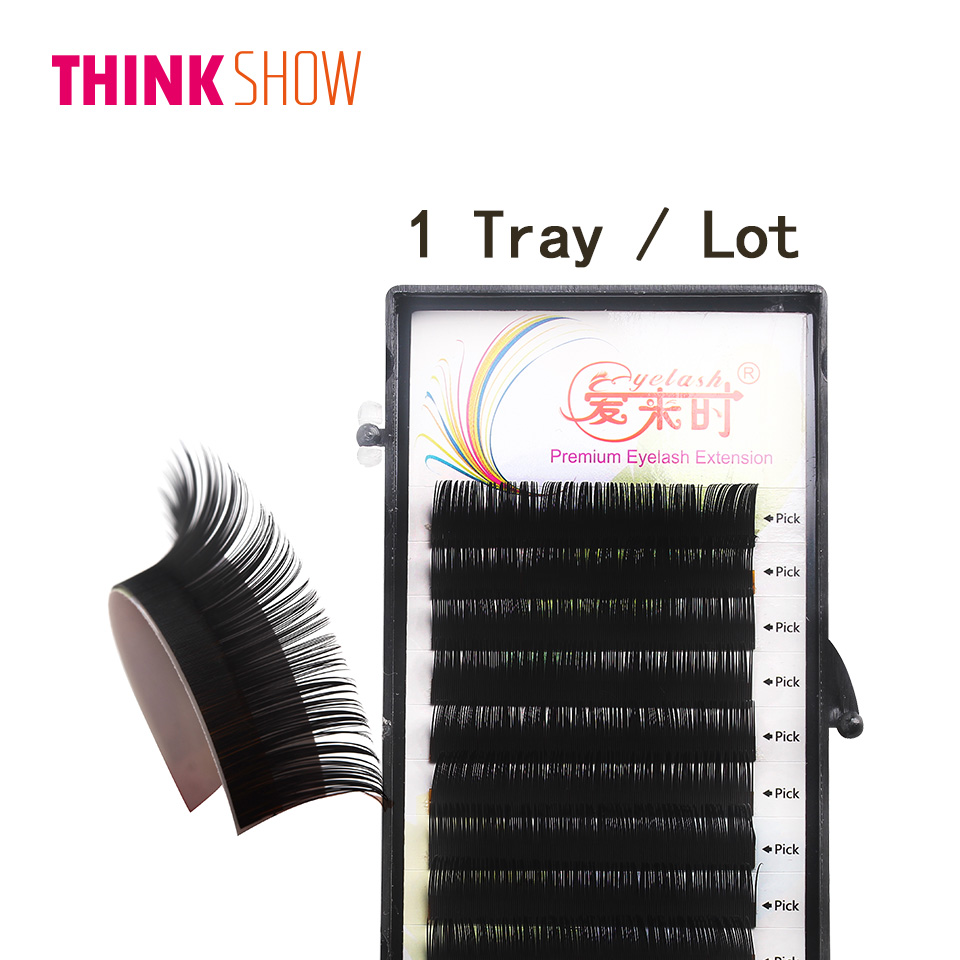 All Size Handmade Eyelashes Extensuion,B/C/D Curl Individual Eye Lashes Extension,Silk Volume 3D False Eyelash For Building