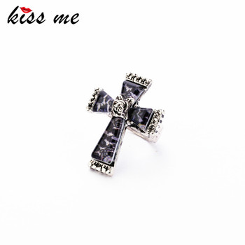 Fashion fashion accessories leopard print cross vintage ring Factory Wholesale image