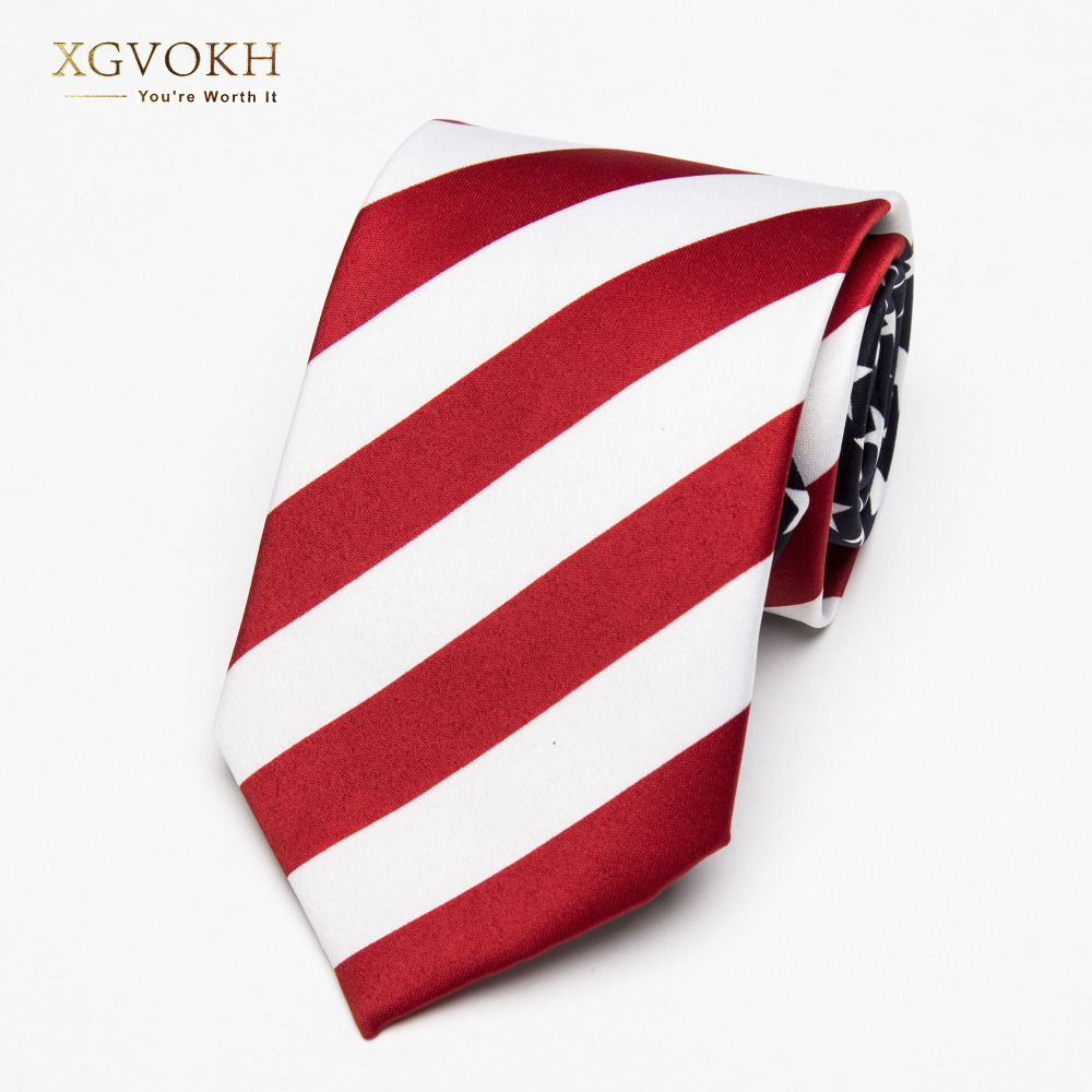 Necktie fashion American/USA Tie Flag Print Casual Women Ties Polyester Woven Classic Men Party Wedding tie Neckwear Cravate