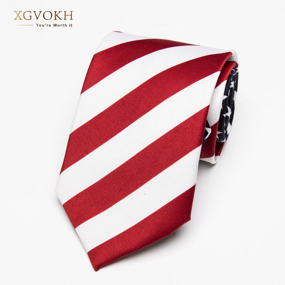 Necktie Fashion American/USA Tie Flag Print Casual Women Ties Polyester Woven Classic Men Party Wedding Tie Neckwear Cravate