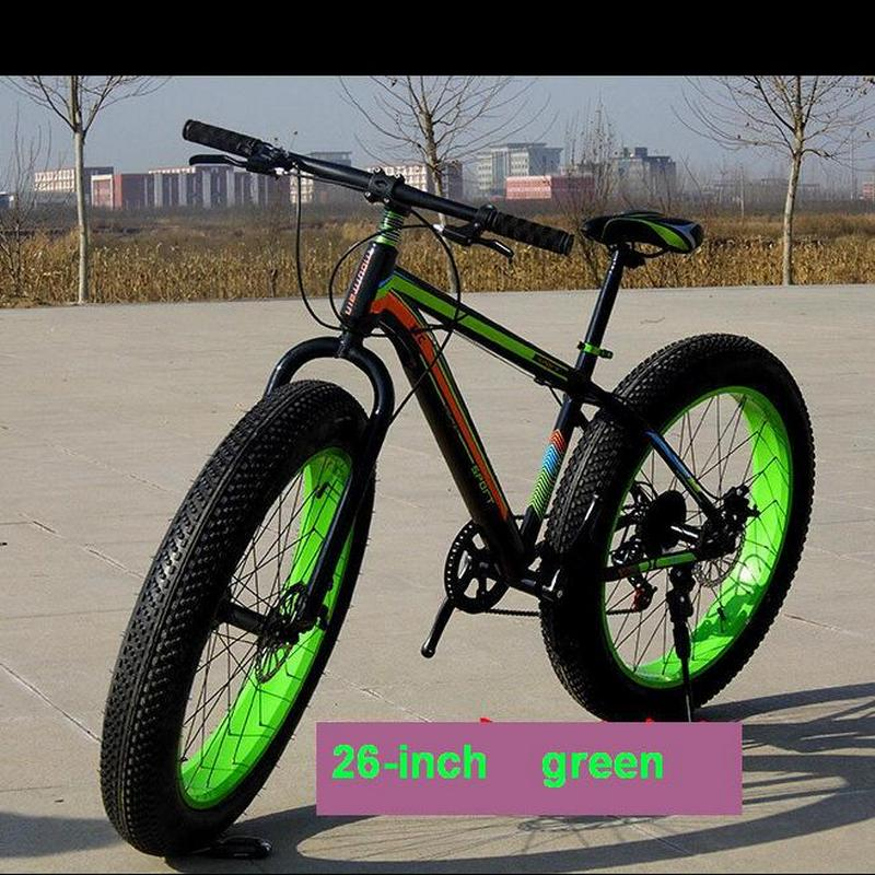 003 Bicycle 7/21/24/27 Speed Mountain Bike 26 * 4.0 Fat Tire Bikes Shock Absorbers Bicycle Free Delivery Snow Bike