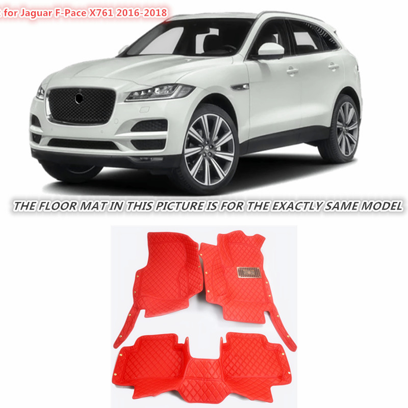 Fit For Jaguar F-Pace f pace X761 2016 2017 2018 Accessories Interior Leather Carpets Cover Car Foot Mat Floor Pad 1set fit for jaguar f pace f pace x761 2016 2017 2018 accessories interior leather carpets cover car foot mat floor pad 1set