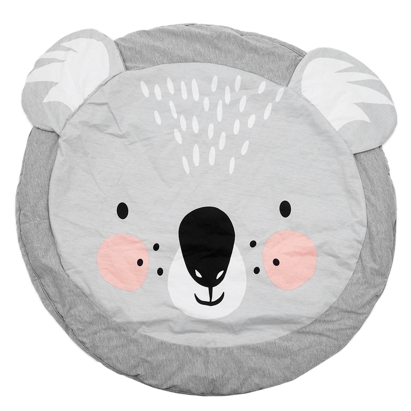 90CM Kids Play Game Mats Round Carpet Rugs Mat Cotton Crawling Blanket Floor Carpet For Kids Room Decoration INS Baby Gifts Ko